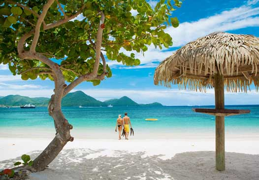 Sandals Grande St Lucian beach view