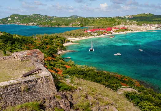 Sandals Grande St Lucian fort view above