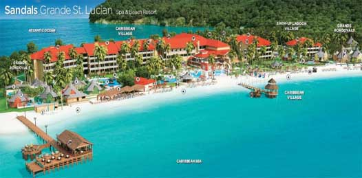 best sandals resort for honeymoon